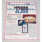 1947 Pillsbury's Best Flour Color Print Ad - Pillsbury's Word Game
