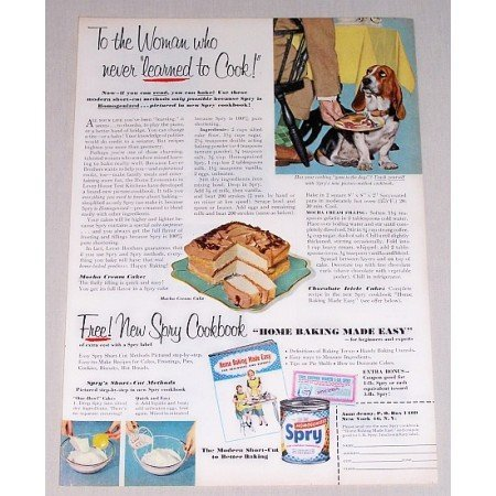 1953 Spry Shortening Cookbook Offer Color Print Ad