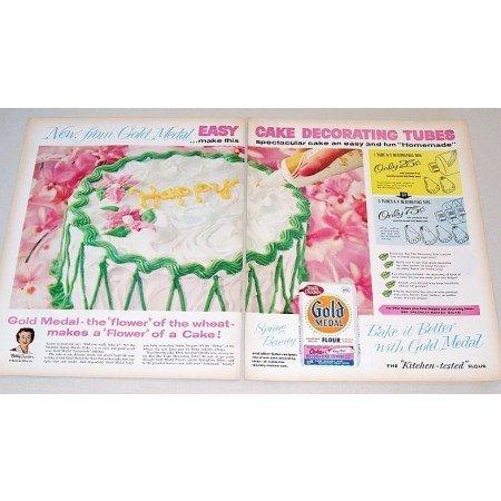 1959 Gold Medal Flour 2 Page Color Print Ad