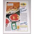 1942 Gold Medal Flour Carnival Desserts Color Print Ad