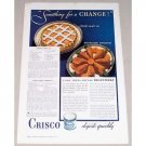 1935 Crisco Shortening Color Print Ad - Something For A Change