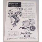 1955 A&P Jane Parker White Bread Kids Pogo Stick Art Print Ad