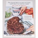 1954 Spry Shortening Color Print Ad - Ground Beef So Tasty