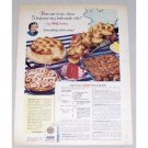 1949 Gold Medal Flour Buttermilk Rolls Recipe Color Print Ad