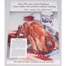 1954 Spry Shortening Color Print Ad - New Small Turkeys