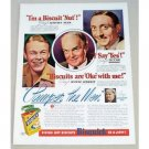 1939 Bisquick Mix Color Print Ad - Pamper The Men