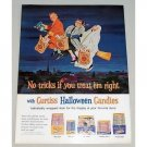 1962 Curtiss Halloween Candies Color Print Ad - No Tricks