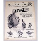 1954 Tootsie Rolls Candy Print Ad - Tootsie Rolls and TV