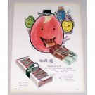 1954 Milky Way Chocolate Bar Egg Art Color Print Ad - Smart Egg
