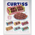 1952 Curtiss Baby Ruth Nuggets Candy Color Print Ad