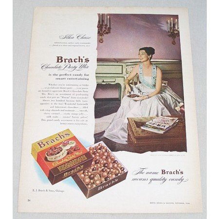 1946 Brach's Chocolate Mix Color Print Ad Celebrity Ilka Chase