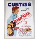 1952 Curtiss Baby Ruth Candy Bar Color Art Print Ad