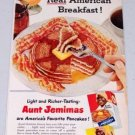 1952 Aunt Jemimas Pancake Mix Vintage Color Breakfast Food Print Ad