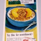 1949 Kellogg's Corn Soya Shreds Cereal Color Food Print Ad
