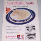 1954 Quaker Oat Oatmeal Color Food Print Ad