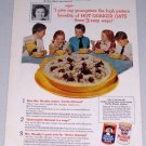 1954 Quaker Oats Oatmeal Cereal Color Food Print Ad Mrs. Elizabeth Murphy