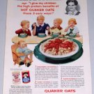 1954 Quaker Oat Oatmeal Color Food Print Ad Mrs. Edward Sittler