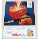 1963 Kellogg's Rice Krispies Cereal Sliced Peach Color Print Ad