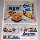 1953 Corn Fetti Cereal Capt Jolly Adventure Color Print Ad