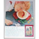 1955 Kellogg's Rice Krispies Cereal Color Print Ad - U can hear them