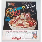 1965 Kellogg's Sugar Frosted Flakes Cannon Art Color Print Ad - Live It Up!