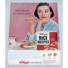 1956 Kellogg's Rice Krispies Cereal Color Print Ad