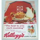 1959 Kellogg's Corn Flakes Cereal Big Red Bard Color Print Ad