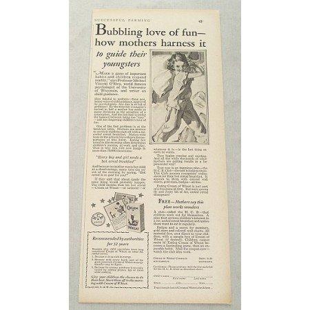 1929 Cream Of Wheat Print Ad - Bubbling Love Of Fun