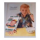 1955 Kellogg's Corn Flakes Cereal Color Print Ad - I Bin Robbed