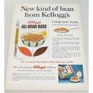 1961 Kellogg's All-Bran Buds Cereal Color Print Ad