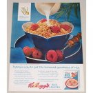 1963 Kellogg's Rice Krispies Cereal Color Print Ad - Honored Goodness