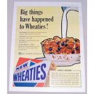 1958 General Mills Wheaties Cereal Color Print Ad - Big Things Happened