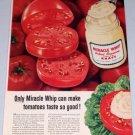 1955 Kraft Miracle Whip Salad Dressing Tomatoes Color Food Print Ad