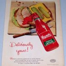 1955 Hunt's Tomato Catsup Color Food Art Print Ad