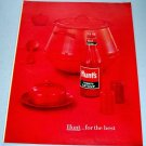 1960 Hunt's Tomato Catsup Color Print Ad