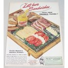 1949 French's Mustard Color Print Ad - Let's Have Sandwiches