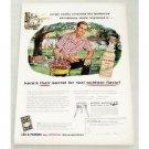 1956 Lea Perrins Sauce Outdoor BBQ Art Color Print Ad