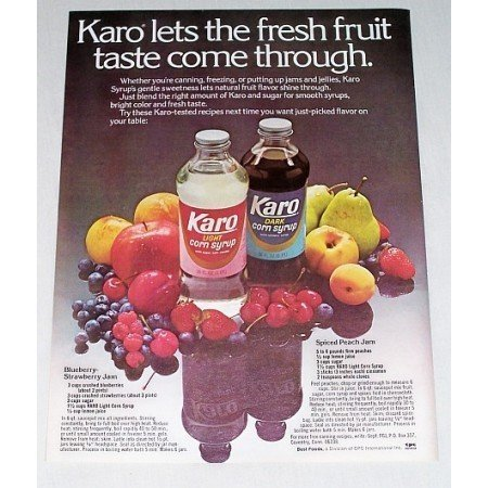 1978 Karo Corn Syrup Jam Recipies Color Print Ad