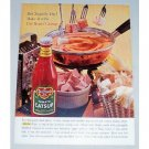 1961 Del Monte Tomato Catsup Zippitty Dip Recipe Color Print Ad