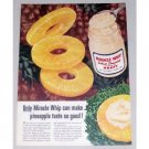 1955 Kraft Miracle Whip Salad Dressing Pineapple Color Print Ad