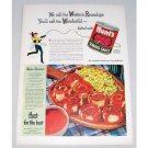 1948 Hunt's Tomato Sauce Western Roundups Recipe Color Print Ad