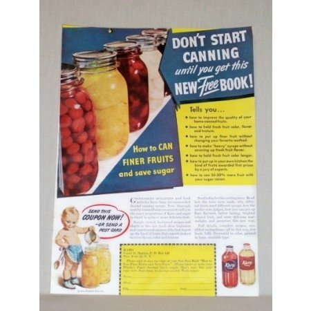1945 Karo Syrup Karo Kid Canning Book Offer Color Print Ad