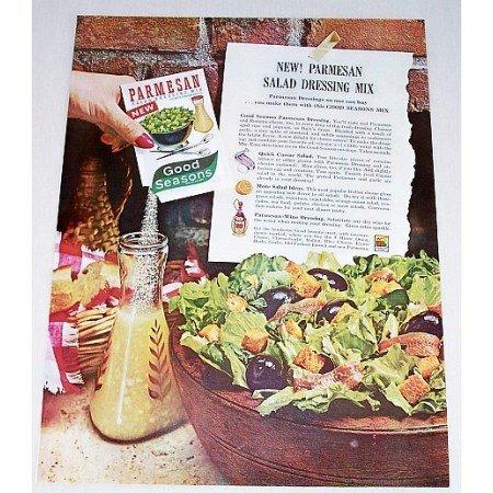 1962 Good Seasons Parmesan Salad Dressing Color Print Ad