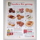 1957 Mazola Oil & Karo Syrup Color Print Ad - Goodies For Giving