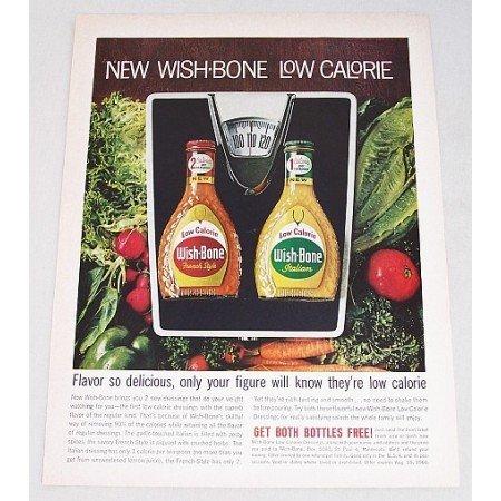 1961 Wish-Bone Low Calorie Salad Dressings Color Print Ad