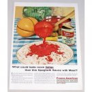 1955 Franco American Spaghetti Sauce with Meat Color Print Ad