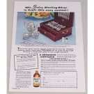 1954 Kraft Oil Gorham Silver Flatware Offer Color Print Ad