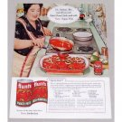 1960 Hunt's Tomato Paste Round Steak Recipe Color Print Ad