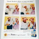 1958 Borden's Skimmed Milk Elsie The Borden Cow Color Print Ad
