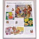 1949 Borden's Dairy Elsie The Cow Art Color Print Ad - Family Budget